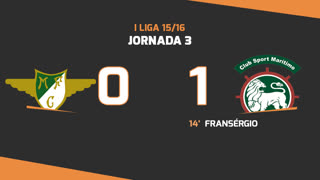 I Liga (3ªJ): Resumo Moreirense FC 0-1 Marítimo M.