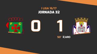 Liga NOS (32ªJ): Resumo FC P.Ferreira 0-1 CD Feirense