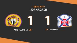 Liga NOS (21ªJ): Resumo CD Nacional 1-1 Os Belenenses