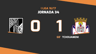 I Liga (34ªJ): Resumo Vitória SC 0-1 CD Feirense