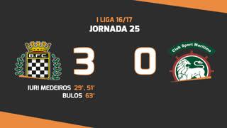Liga NOS (25ªJ): Resumo Boavista FC 3-0 Marítimo M.