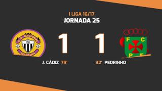 Liga NOS (25ªJ): Resumo CD Nacional 1-1 FC P.Ferreira