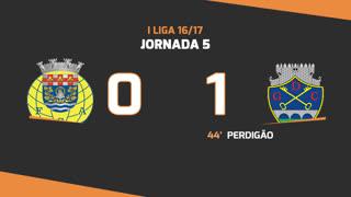 I Liga (5ªJ): Resumo FC Arouca 0-1 GD Chaves
