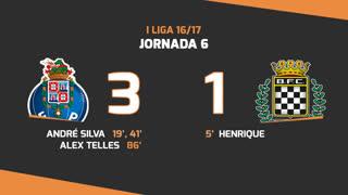 I Liga (6ªJ): Resumo FC Porto 3-1 Boavista FC
