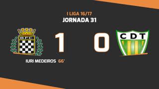 Liga NOS (31ªJ): Resumo Boavista FC 1-0 CD Tondela