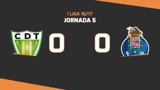 Liga NOS (5ªJ): Resumo CD Tondela 0-0 FC Porto