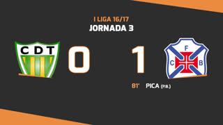 I Liga (3ªJ): Resumo CD Tondela 0-1 Belenenses