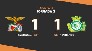 I Liga (2ªJ): Resumo SL Benfica 1-1 Vitória FC