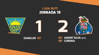 Liga NOS (19ªJ): Resumo Estoril Praia 1-2 FC Porto