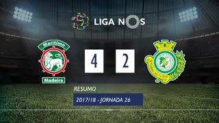 Liga NOS (26ªJ): Resumo Marítimo M. 4-2 Vitória FC