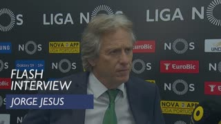 Liga (34ª): Flash interview Jorge Jesus
