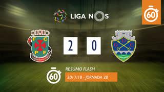 Liga NOS (28ªJ): Resumo Flash FC P.Ferreira 2-0 GD Chaves