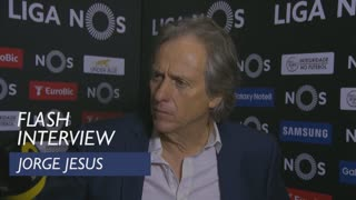 Liga (24ª): Flash interview Jorge Jesus