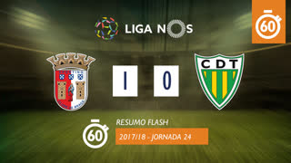 I Liga (24ªJ): Resumo Flash SC Braga 1-0 CD Tondela
