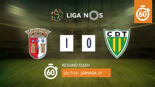 Liga NOS (24ªJ): Resumo Flash SC Braga 1-0 CD Tondela