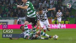 Sporting CP, Caso, B. Ruiz aos 22'