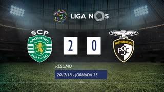 Liga NOS (15ªJ): Resumo Sporting CP 2-0 Portimonense