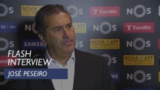 Liga (34ª): Flash interview José Peseiro