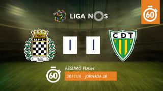 Liga NOS (28ªJ): Resumo Flash Boavista FC 1-1 CD Tondela