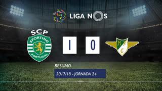 Liga NOS (24ªJ): Resumo Sporting CP 1-0 Moreirense FC