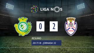 Liga NOS (32ªJ): Resumo Vitória FC 0-2 CD Feirense