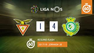 Liga NOS (28ªJ): Resumo Flash CD Aves 1-4 Vitória FC