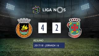 Liga NOS (16ªJ): Resumo Rio Ave FC 4-2 FC P.Ferreira
