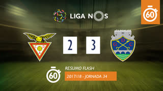 I Liga (34ªJ): Resumo Flash CD Aves 2-3 GD Chaves