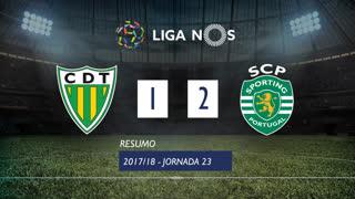 Liga NOS (23ªJ): Resumo CD Tondela 1-2 Sporting CP