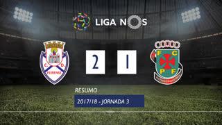 I Liga (3ªJ): Resumo CD Feirense 2-1 FC P.Ferreira