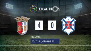 Liga NOS (15ªJ): Resumo SC Braga 4-0 Belenenses SAD