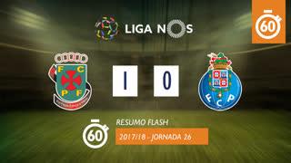 Liga NOS (26ªJ): Resumo Flash FC P.Ferreira 1-0 FC Porto