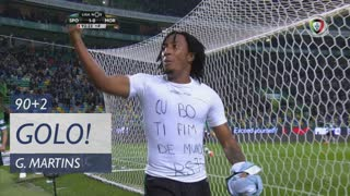 GOLO! Sporting CP, Gelson Martins aos 90'+2', Sporting CP 1-0 Moreirense FC