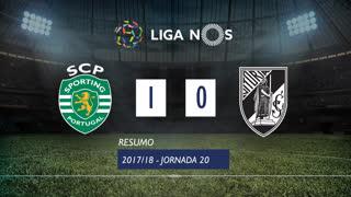 Liga NOS (20ªJ): Resumo Sporting CP 1-0 Vitória SC