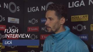 Liga (30ª): Flash interview Licá