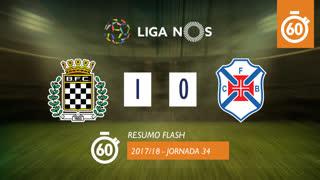 Liga NOS (34ªJ): Resumo Flash Boavista FC 1-0 Belenenses