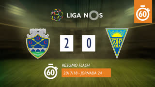 Liga NOS (24ªJ): Resumo Flash GD Chaves 2-0 Estoril Praia