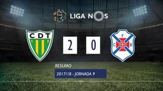 Liga NOS (9ªJ): Resumo CD Tondela 2-0 Os Belenenses