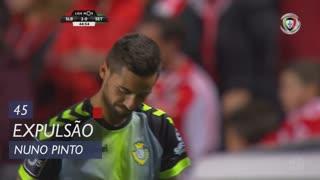 Vitória FC, Expulsão, Nuno Pinto aos 45'