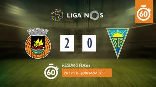Liga NOS (28ªJ): Resumo Flash Rio Ave FC 2-0 Estoril Praia