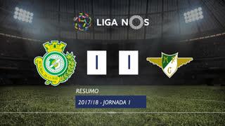 Liga NOS (1ªJ): Resumo Vitória FC 1-1 Moreirense FC
