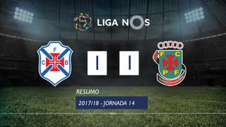 Liga NOS (14ªJ): Resumo Belenenses 1-1 FC P.Ferreira