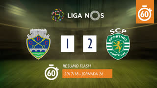 Liga NOS (26ªJ): Resumo Flash GD Chaves 1-2 Sporting CP