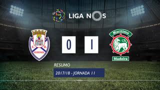 Liga NOS (11ªJ): Resumo CD Feirense 0-1 Marítimo M.