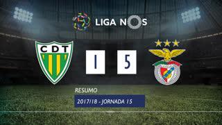 Liga NOS (15ªJ): Resumo CD Tondela 1-5 SL Benfica