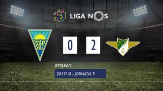 Liga NOS (5ªJ): Resumo Estoril Praia 0-2 Moreirense FC