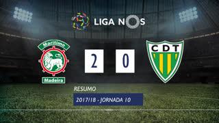 Liga NOS (10ªJ): Resumo Marítimo M. 2-0 CD Tondela