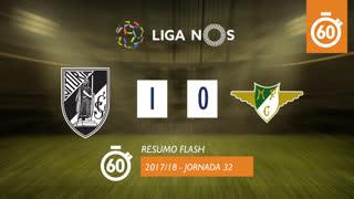 Liga NOS (32ªJ): Resumo Flash Vitória SC 1-0 Moreirense FC