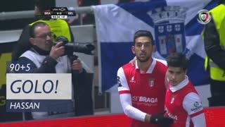 GOLO! SC Braga, Hassan aos 90'+5', SC Braga 4-0 Os Belenenses