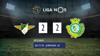 Liga NOS (18ªJ): Resumo Moreirense FC 2-2 Vitória FC